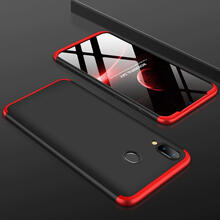 Чехол бампер GKK Dual Armor Case для Samsung Galaxy A30 (2019) Black\Red (Черный\Красный)