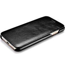 Чехол книжка Icarer Curved Edge Vintage Case для Samsung Galaxy S9 Plus Black (Черный)
