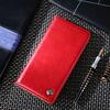 Чехол книжка IDOOLS Retro Case для Samsung Galaxy M11 Red (Красный)