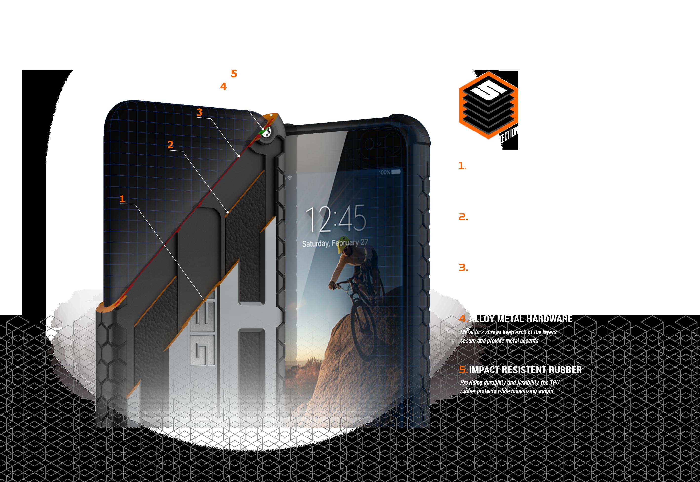 Urban Armor Gear Monarch Series Samsung Uag Case For Galaxy S8 Plus Graphite